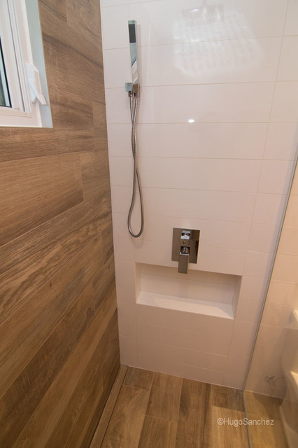Bathtub To Shower Conversion Contemporary Bathroom