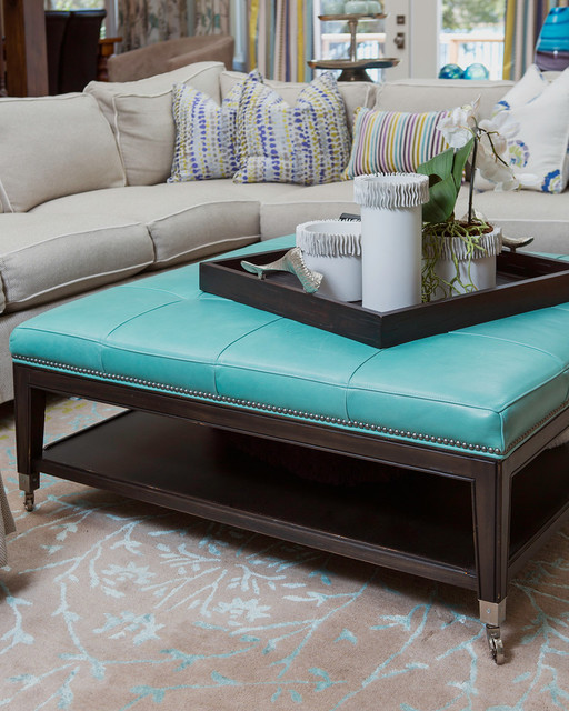 Turquoise Ottoman Coffee Table