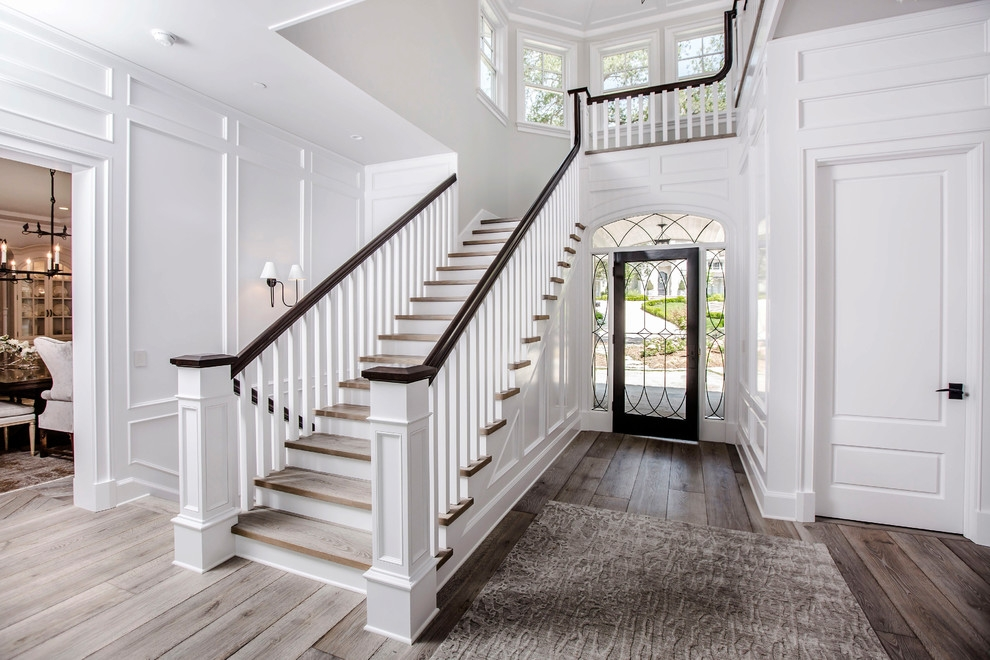 Pasadena Project High End Residential Flooring European Oak | Traditional Staircase Designs For Homes | Antique | Nice | Low Cost | Entryway | Wonderful