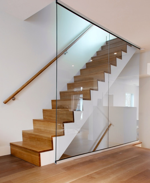 White Oak Staircase Modern Staircase Toronto By | White Oak Stair Railing