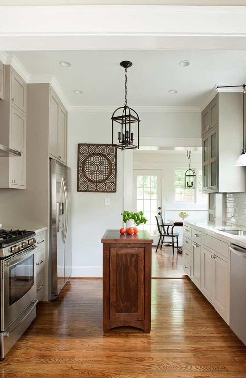 Narrow Island Kitchen Design