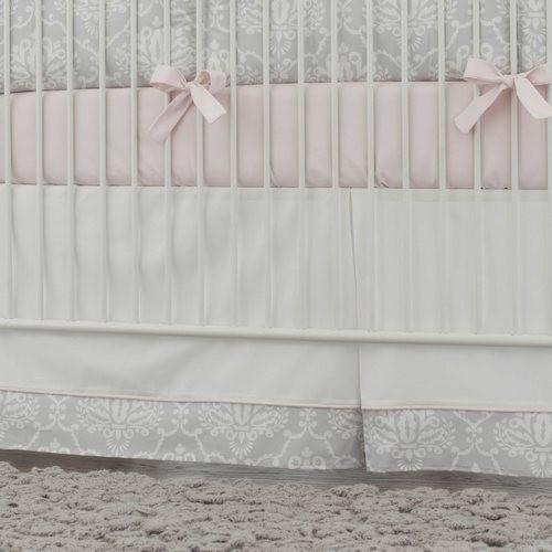 Pink And Gray Crib Skirts