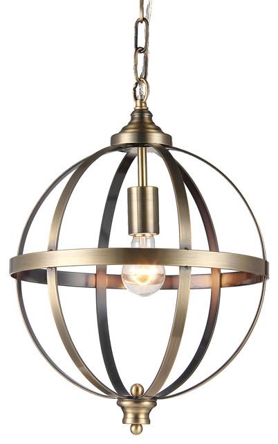 Bronze Globe Pendant Light