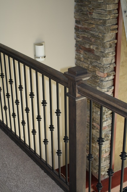 Oak Stair Railing Iron Balusters Justin Doyle Homes | Stair Banisters For Sale