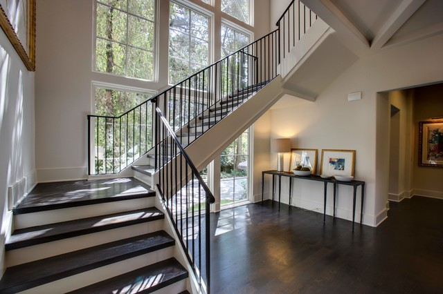 1920 S Brookhaven Renovation Transitional Staircase