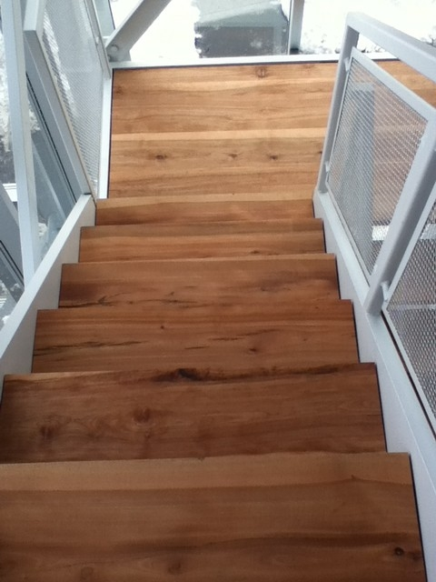 Solid Wood Stairs Live Edge Stair Treads Contemporary | Unfinished Oak Stair Treads