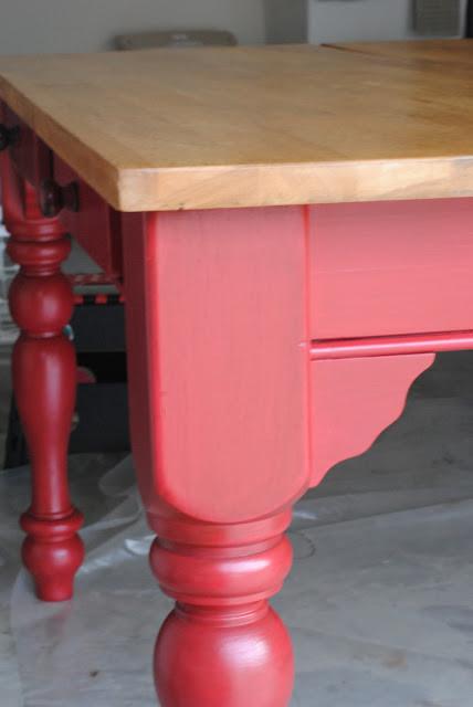 Red Kitchen Table Farmhouse Atlanta By Fanci Seats