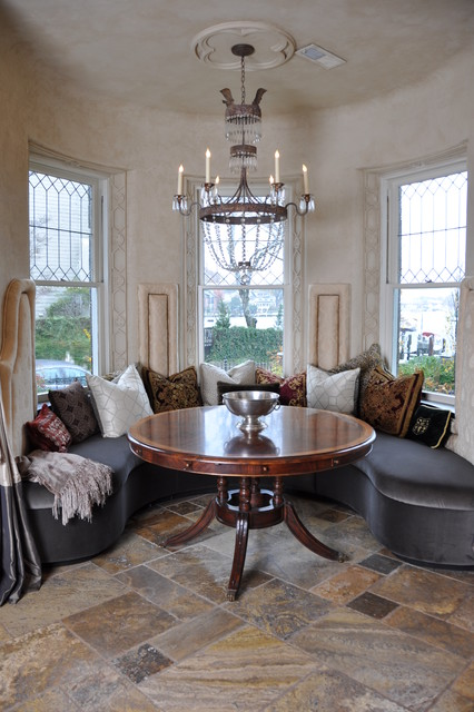 Stone Floor Traditional Dining Room Dc Metro By
