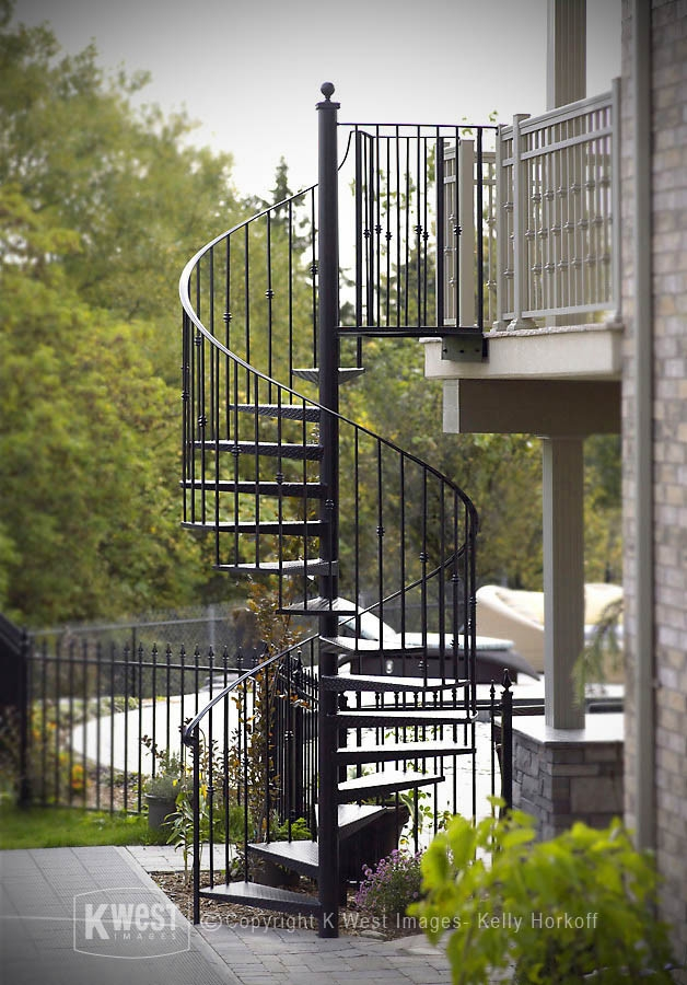 Wrought Iron Staircase Houzz | Outdoor Iron Staircase Designs | Gallery | Outdoor Balcony | Exterior | Curved Staircase Carpet | Wooden Staircase