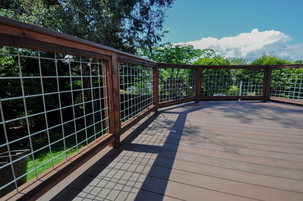 Hog Wire Railing Projects Contemporary Seattle By Open Space   Hog Wire Stair Railing   Outdoor Stair   Deck Railing   Thin Picket Deck   Backyard   Indoor