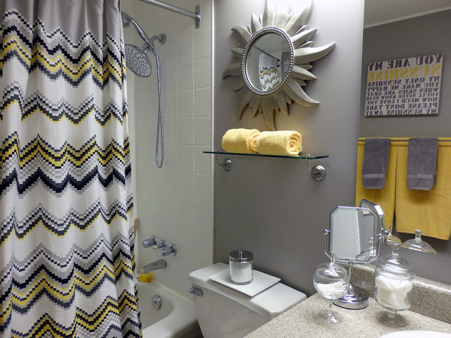 And Yellow Gray Towels Kitchen