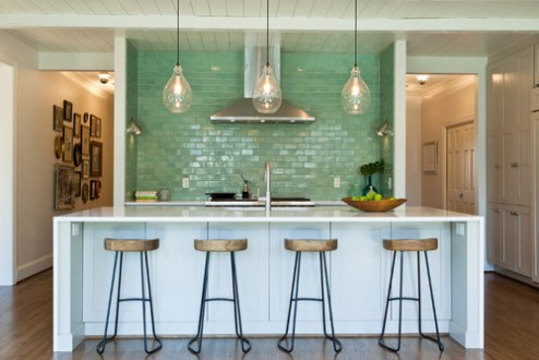 Waterfall Edges for Kitchen Countertops and Islands     keep tucked away electrical outlets less visible or to transition the  space between the island or bar countertop and the stool edges