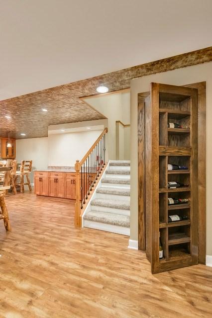 Basement Stairs And Hidden Bookcase Door Rustic Basement | Hidden Stairs To Basement | Wine Cellar | Channel Zero | House | Walkout | Too Steep