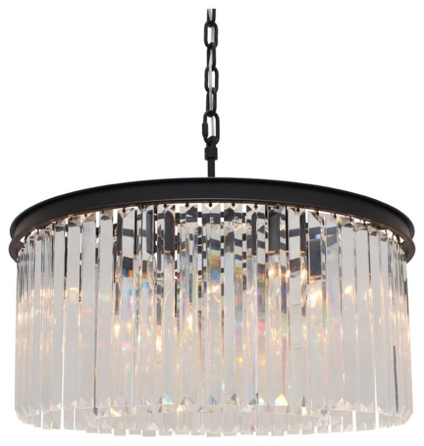 small black crystal chandelier # 11
