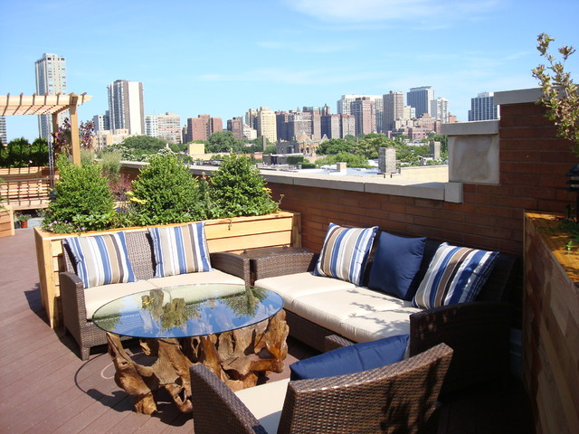 Lakeview Rooftop Deck Modern Patio Chicago By Lisa