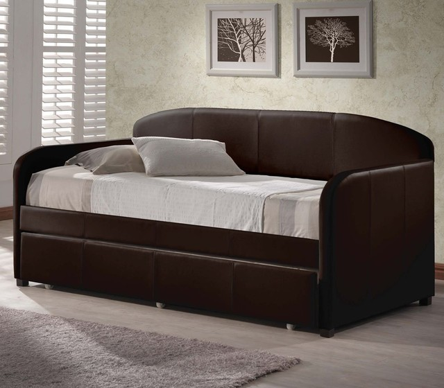 Springfield Daybed With Trundle Brown Modern Daybeds