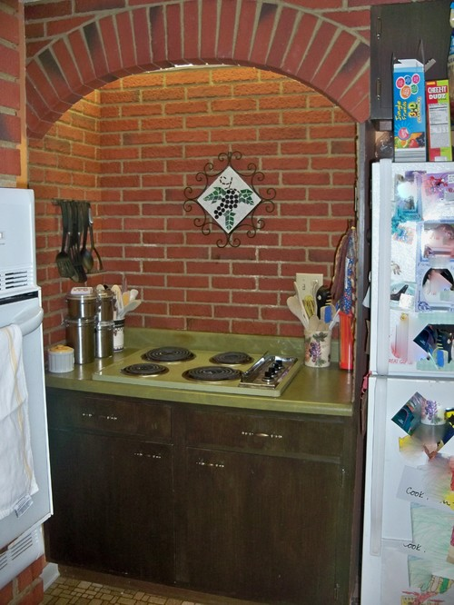 Brady Bunch Green Kitchen Countertops Help