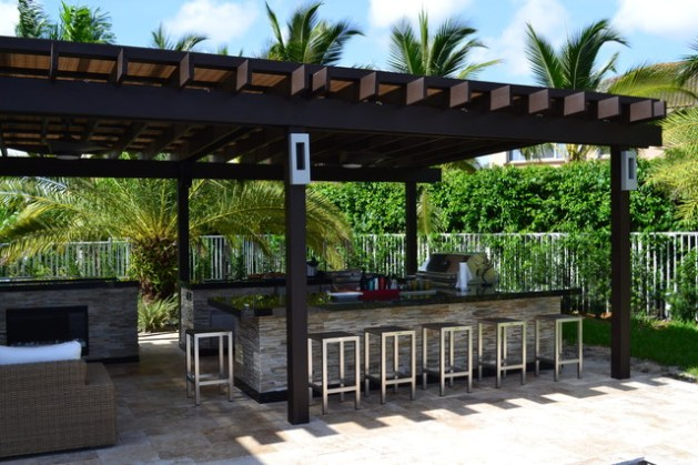 Outdoor kitchen And Pergola Project   Mediterranean   Patio   Miami     Outdoor kitchen And Pergola Project mediterranean patio