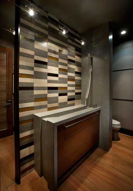 Modern Mountain Lake Tahoe Contemporary Powder Room