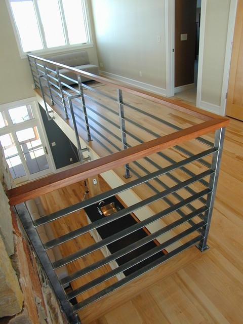 Contempoary Stair Railing Modern Staircase Milwaukee   Modern Banisters And Railings