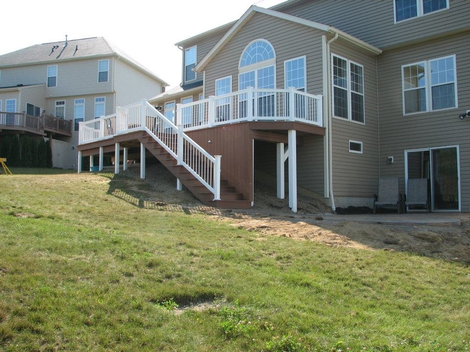 Deck With Walkout Basement Traditional Deck Cleveland By | Walkout Basement Stair Covers | Door Bilco | Exterior | Cellar | Welled | Walkup