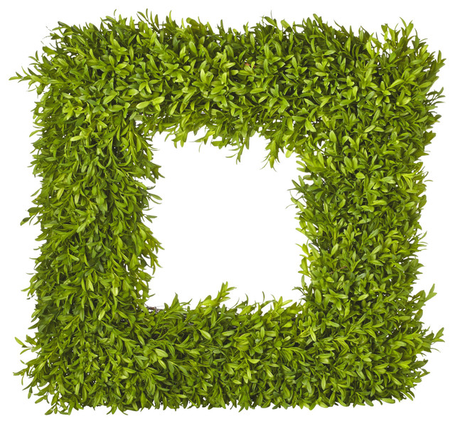 French Market 20 Inch Square Boxwood Wreath - Contemporary ...