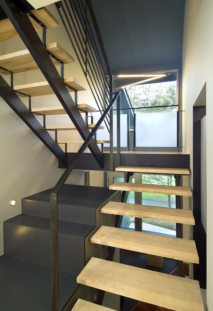 Exterior Front Elevation Staircase Houzz   Front Staircase House Design   Residential   Outside   Front Jina   Home Front Valuation   Sitout