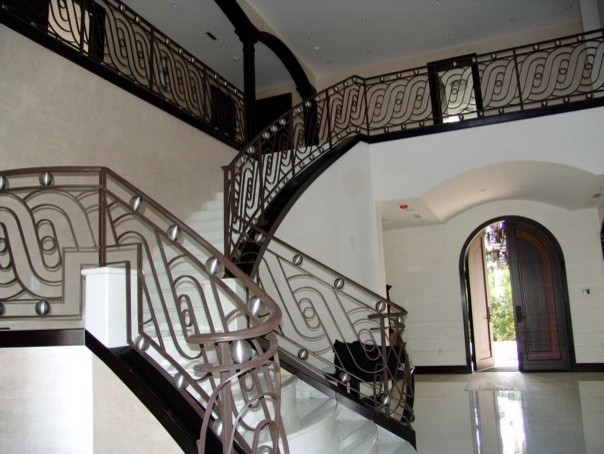Contemporary Stair Railings Contemporary Staircase Miami | Modern Style Stair Railing | Iron | House | Wrought Iron | Modern Luxury | Art Deco