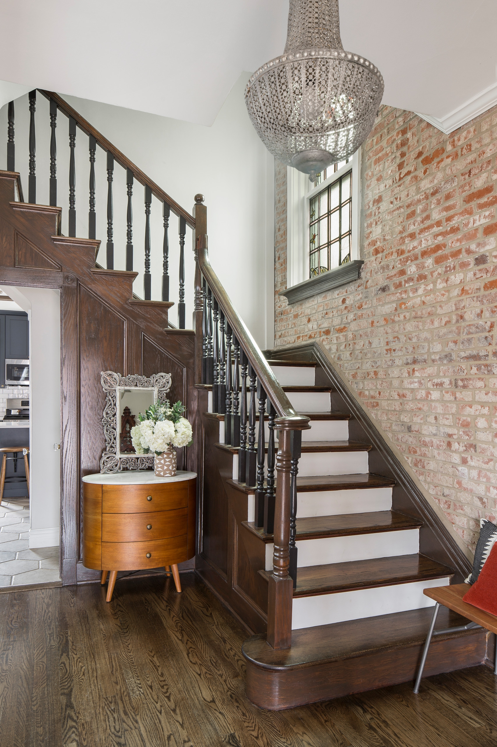 75 Beautiful Staircase Pictures Ideas September 2020 Houzz | Teak Wood Staircase Railings | Wood Frame | Hand | Sitout | Wood Carving | Lakdi