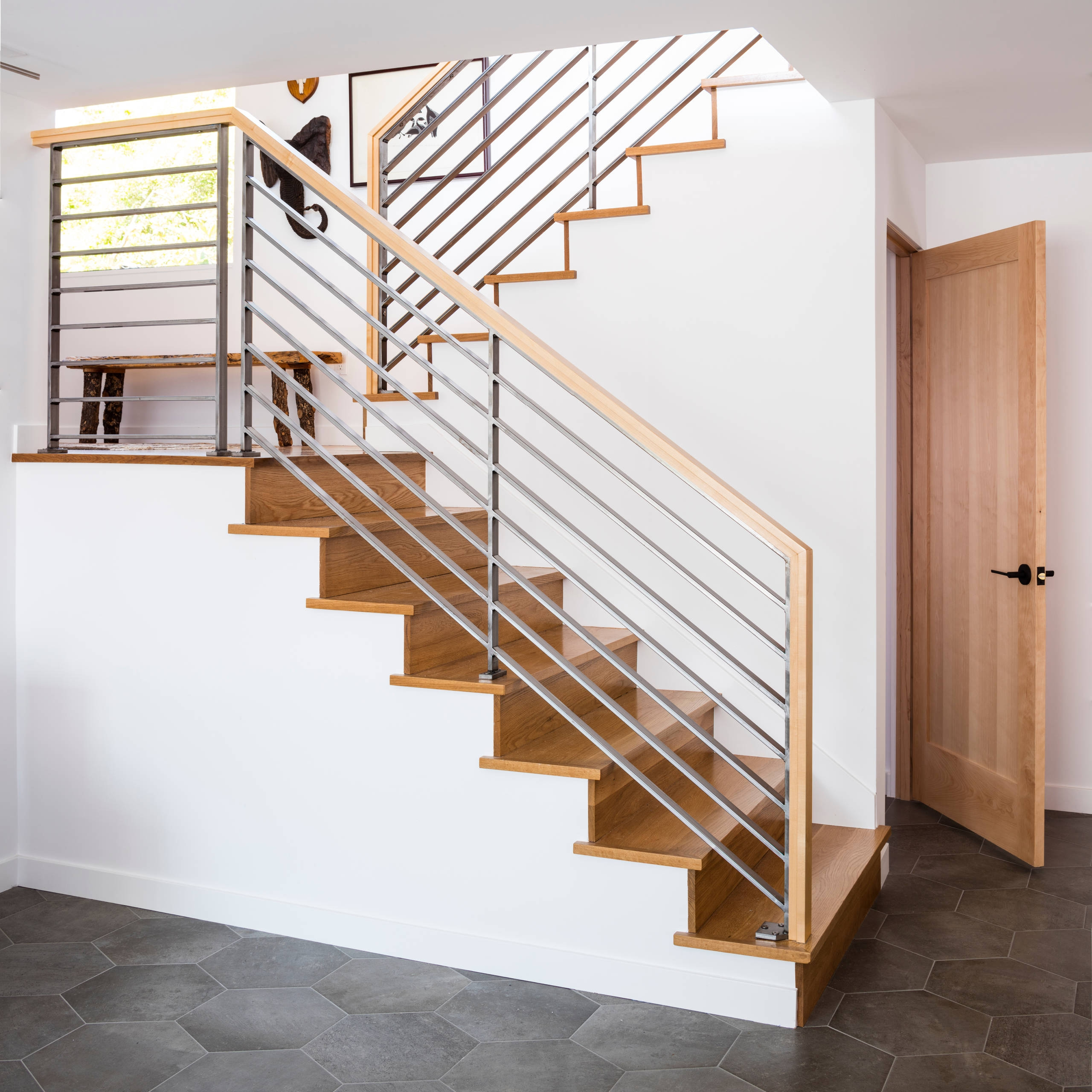 75 Beautiful Mid Century Modern Staircase Pictures Ideas   Mid Century Modern Stairs   Modern Craftsman   Design   Modern Middle House   Industrial Modern   Lighting