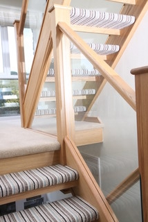 Open Tread Oak Staircase Renovation With Embedded Glass Balustrade | Glass And Oak Banister | Minecraft | Traditional | Stair Case | House | Designer