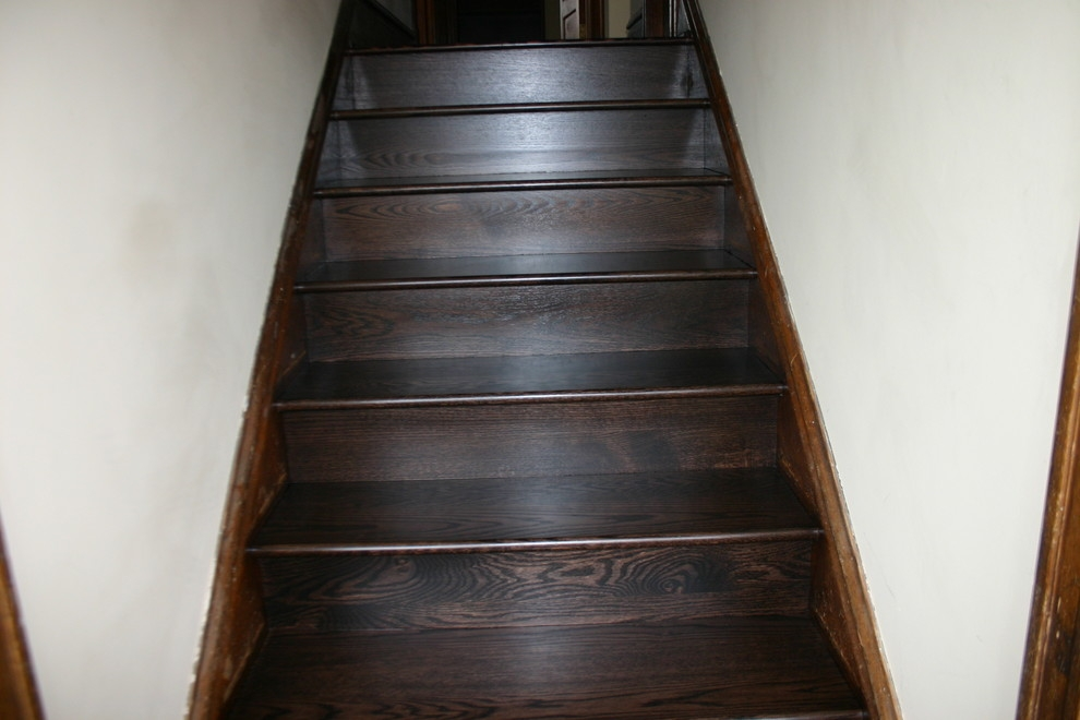 Replacement Old Douglas Fir Steps With Naw Red Oak Treads Risers | European Oak Stair Treads | Basement Stairs | Hardwax Oil | Lumber | Risers | Wood Stair Railing