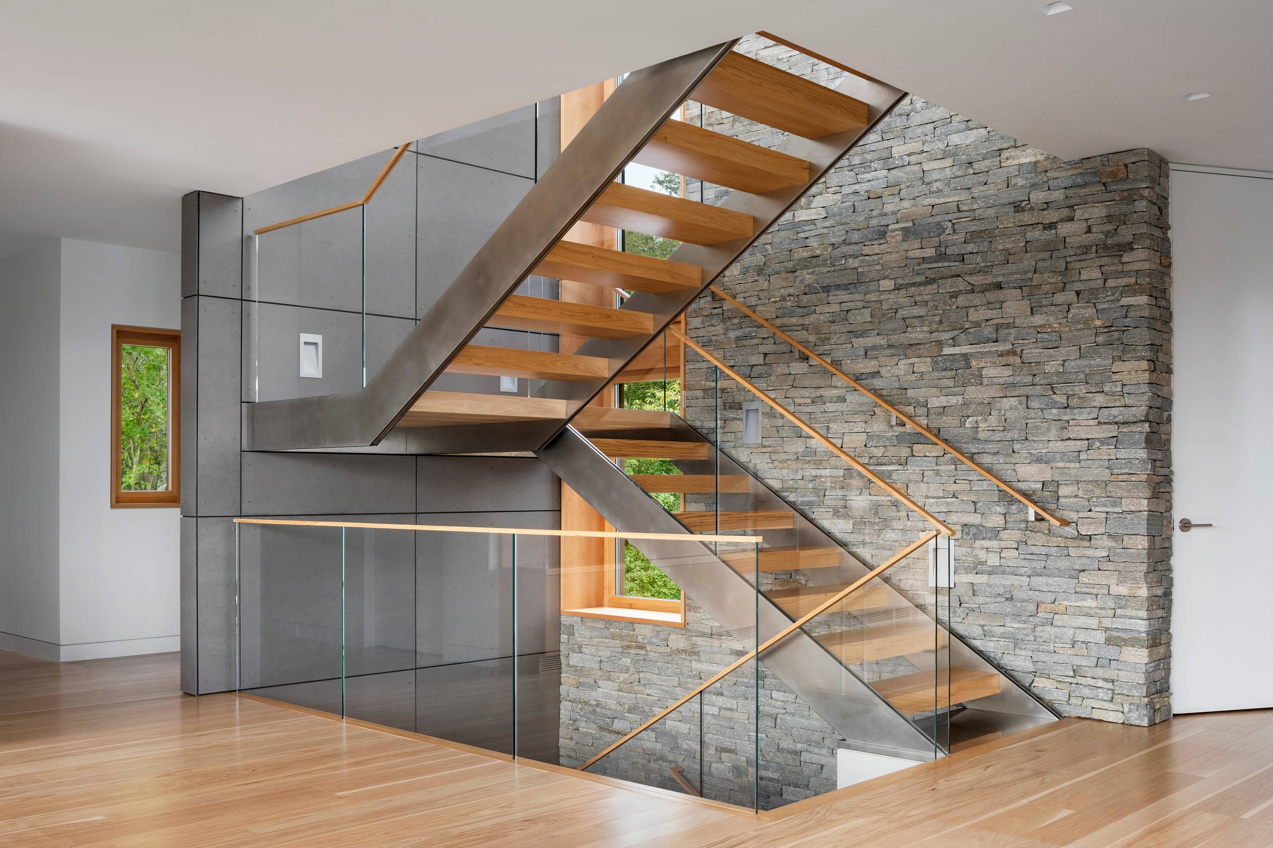 75 Beautiful Modern Staircase Pictures Ideas September 2020 | Modern Staircase Design Outside Home | Msmedia | Stair Case | Spiral Staircase | Decorative Wrought | Iron Railings