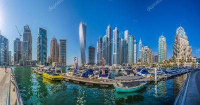 Dubai, Emiratos Árabes Unidos - 13 de octubre: Edificios ...