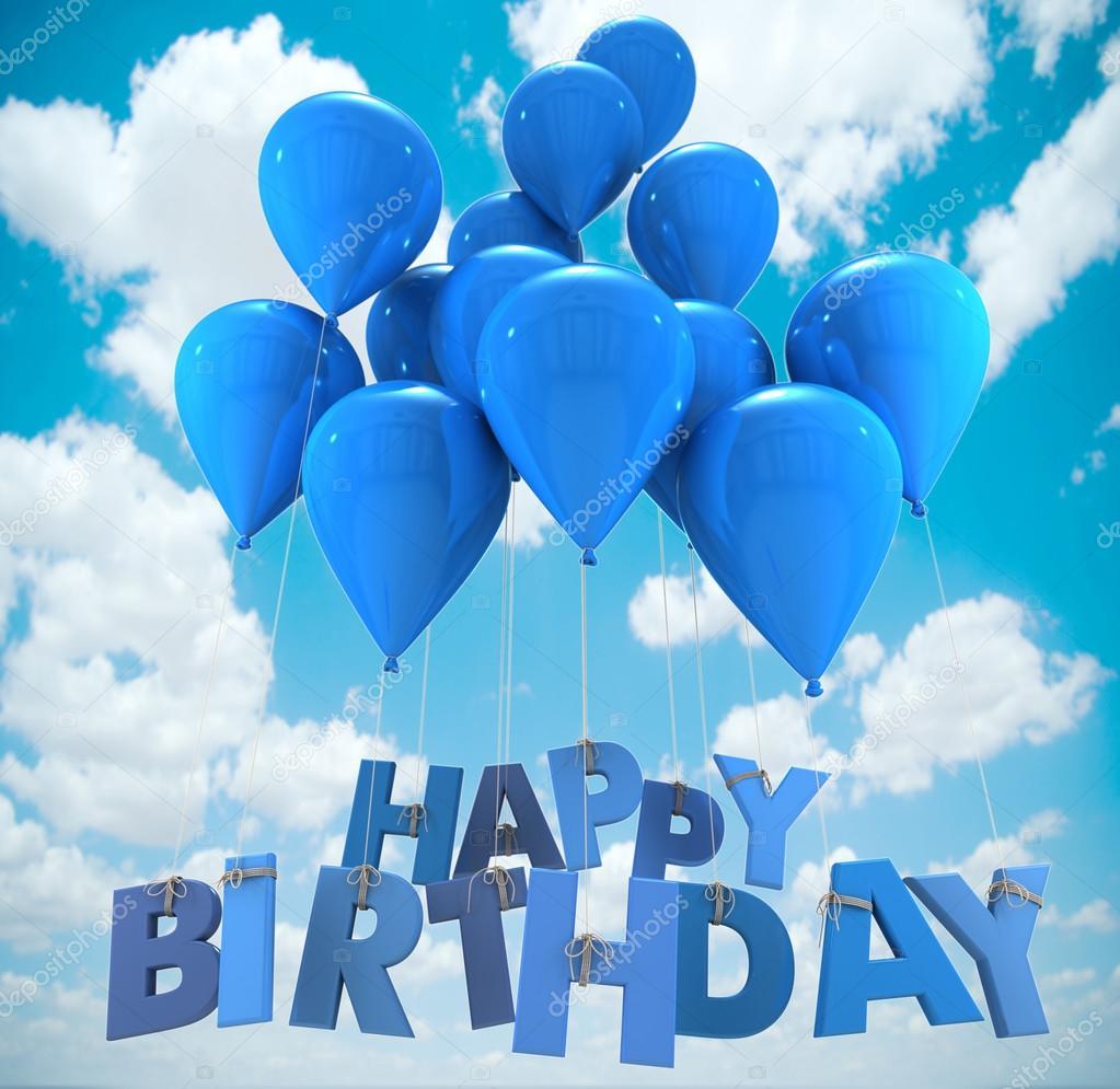 Birthday Balloons Heaven Happy