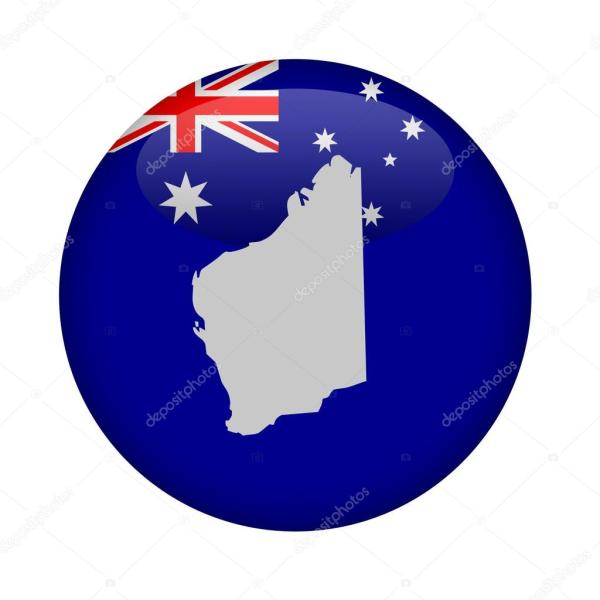 Western Australia map button     Stock Photo      speedfighter17  119510640 Western Australia map button     Stock Photo