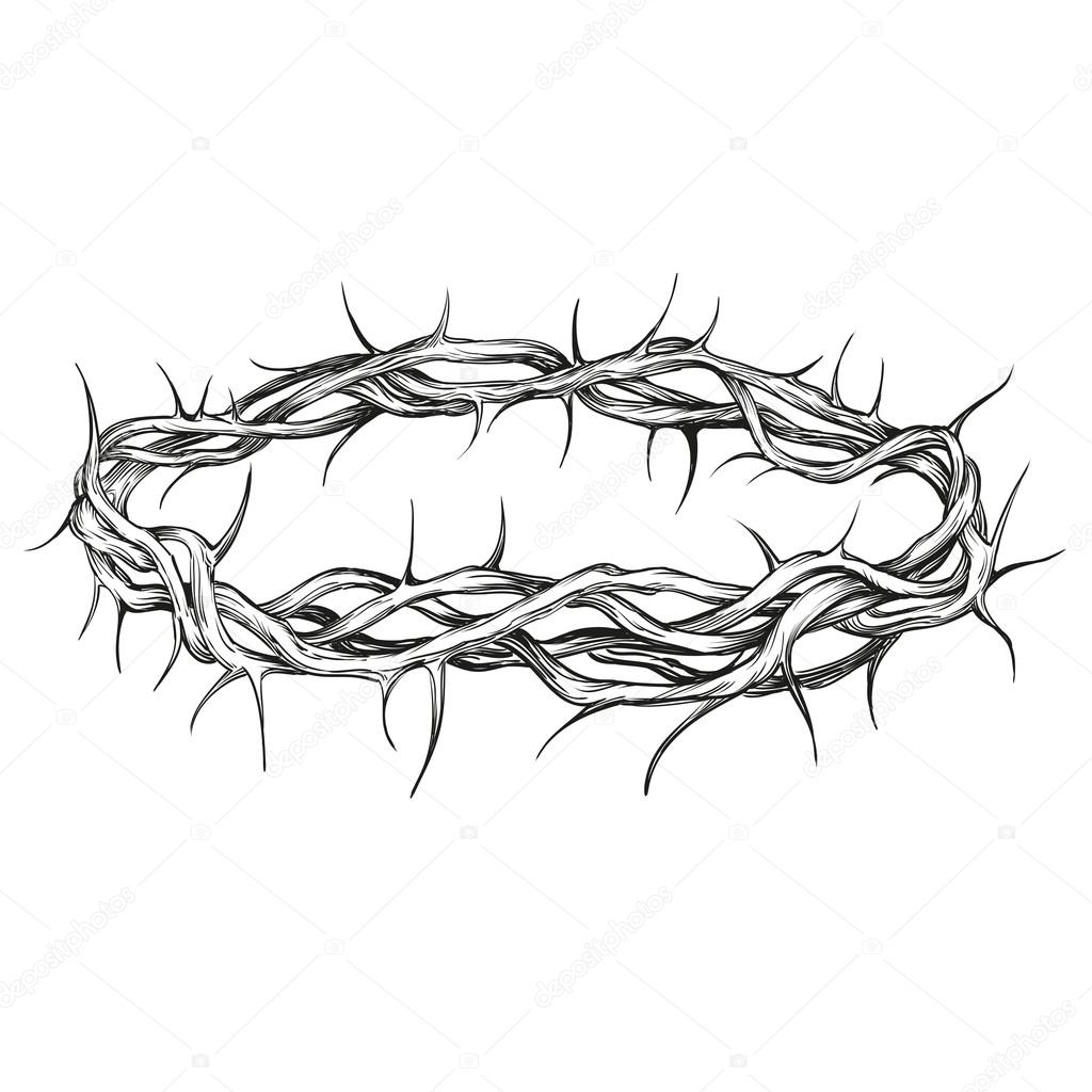 Jesus Crown Of Thorns Coloring Page