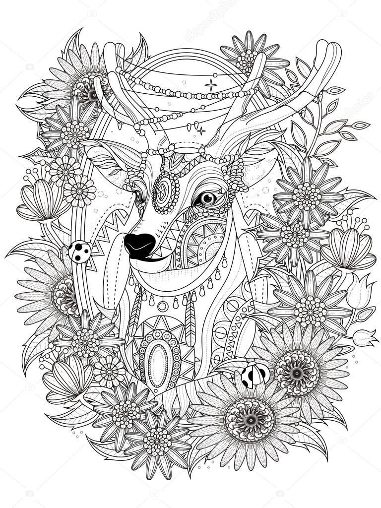 Elk Coloring Book Pages
