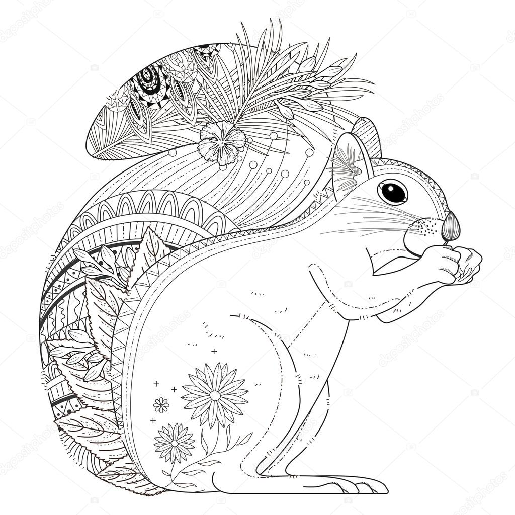 Coloring Page Squirrel Free Coloring Pages Download | Xsibe chipmunk ...