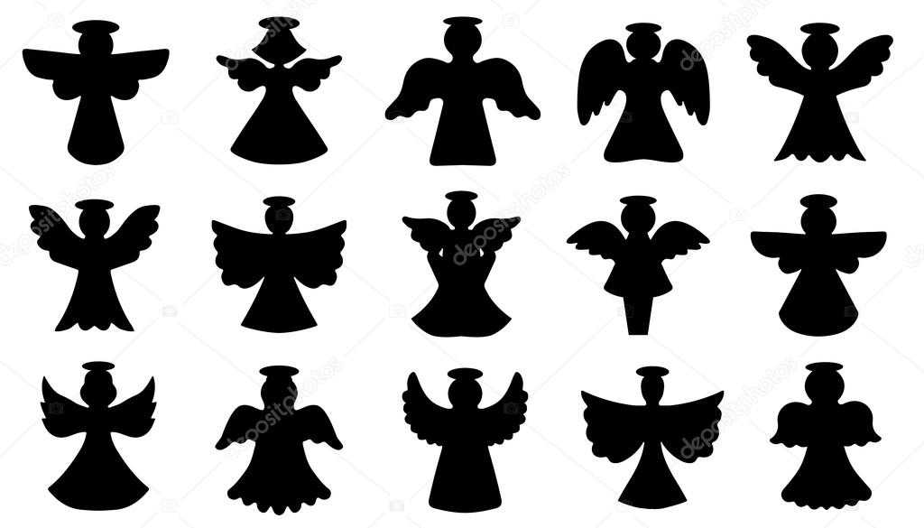 angel silhouettes — Stock Vector © yyanng #58349303