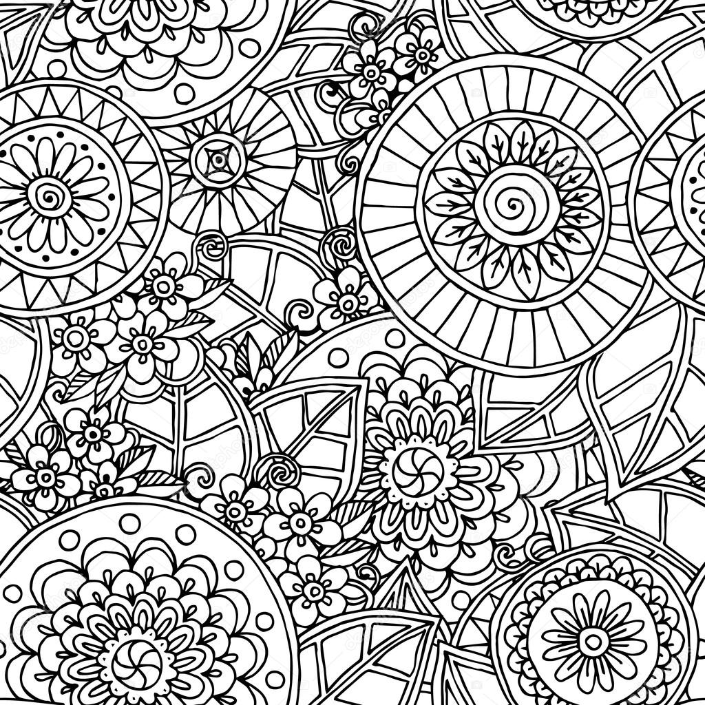 Black And White Patterns Draw