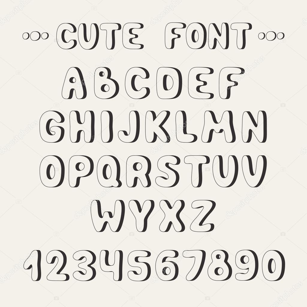 Easy Block Letters Font Alphabet