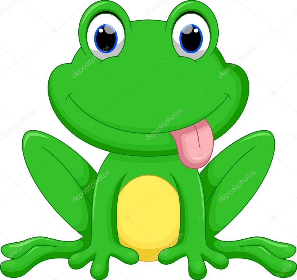 Cute frog cartoon — Stock Vector © irwanjos2 #88031368