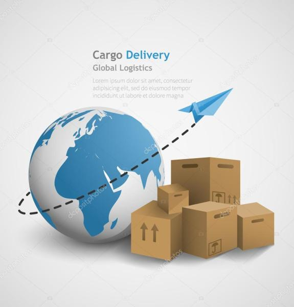 Global logistics concept     Stock Vector      Chalapan  106635142 Global logistics concept     Stock Vector