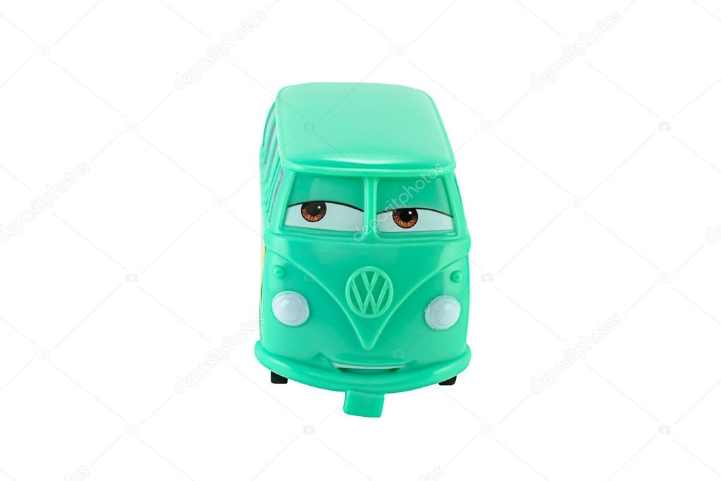 Fillmore 1960 Volkswagen bus toy character from Disney Pixar CAR     Bangkok Thailand   March 1  2014  Fillmore 1960 Volkswagen bus toy  character from Disney Pixar CARS  There are toy sold as part of the  McDonald s Happy