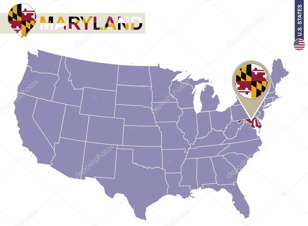 images for usa map maryland