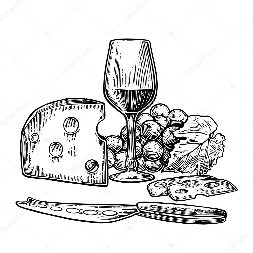 Black And Wine White Cheese And Graphic