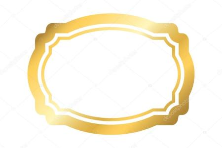 Gold frame simple golden white design     Stock Vector      Alona S     Beautiful simple golden design  Vintage style decorative border  isolated  on white background  Deco elegant art object  Empty copy space for  decoration
