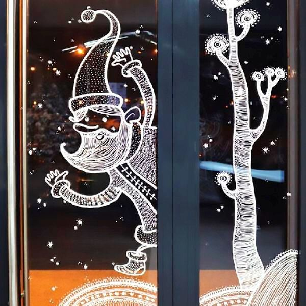 Тіс пастасы фотосуретінің жаңа жылдық дизайн терезесі