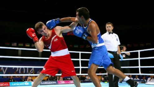 Asian Games 2014  Indian boxer manoj kumar knocked out   Cricket Country Indian Boxer Manoj Kumar was knocked out      Getty Images  File Photos
